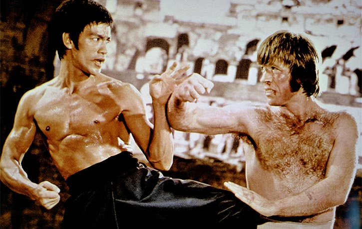 Bruce Lee v Chuck Norris in Way of the Dragon!