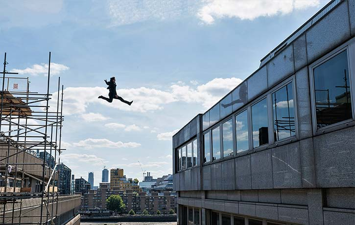 One giant leap for Ethan Hunt