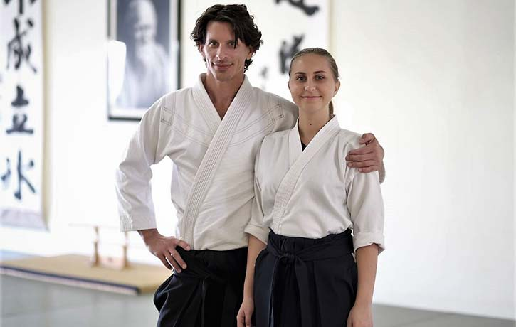 Sensei Josh with his daughter Sophia