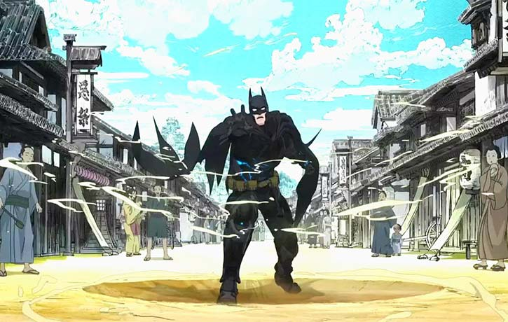 Batman gets disoriented after being sent back through time!