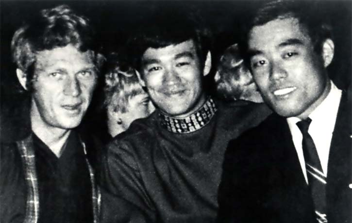 Demura with Bruce Lee & Steve McQueen