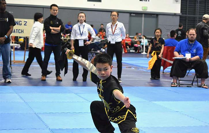 Evan strikes a Daoshu pose