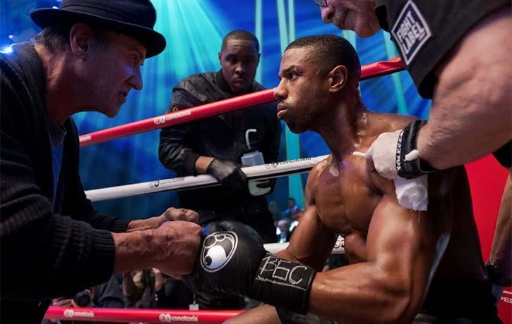 Stitch appears alongside Michael B. Jordan & Sly Stallone in a tense Creed II scene