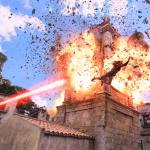 Arthur evades Black Manta's lethal attack