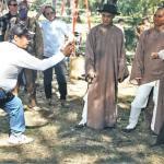 Sammo Hung directs Jet Li and his stunt double
