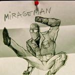 Maco constructs his superhero alter-ego, Mirageman!