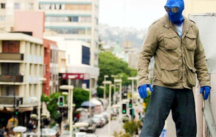 Mirageman looks over the city