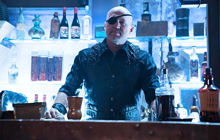 Garrett makes a cameo as a bar tender in Alita Battle Angel