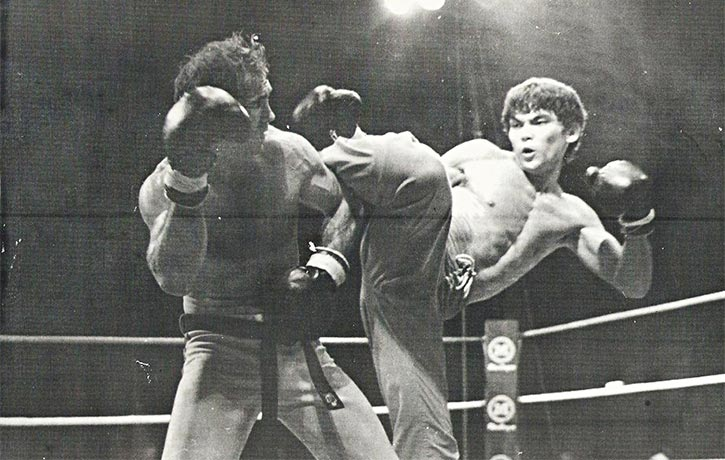 Don in the ring with the great Bill Wallace