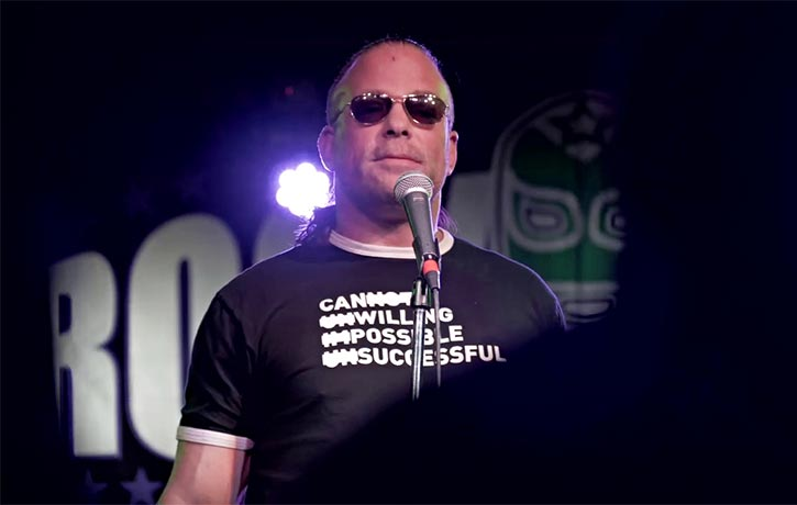 RVD dives head first into the world of stand up comedy
