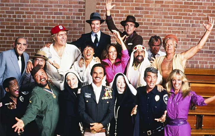 Jackie and his Cannonball Run co stars