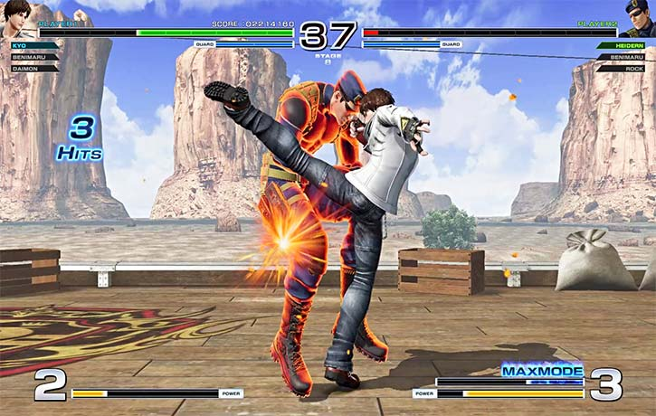Kyo Kusanagi finishes the match with a solid kick