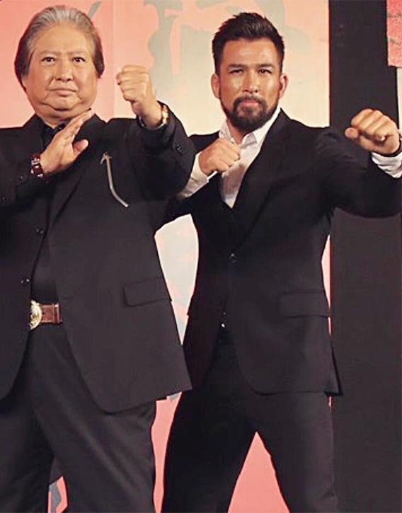 Chris alongside the great Sammo Hung!