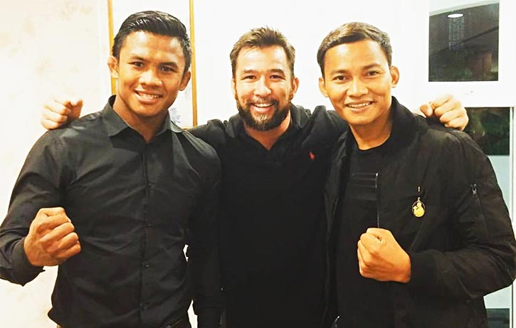 Chris with Tony Jaa and Muay Thai kickboxing legend Buakaw!