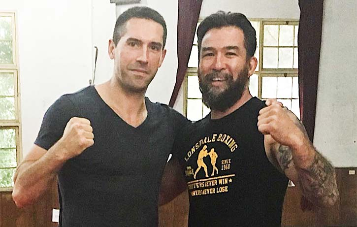 Chris with modern British action hero Scott Adkins!