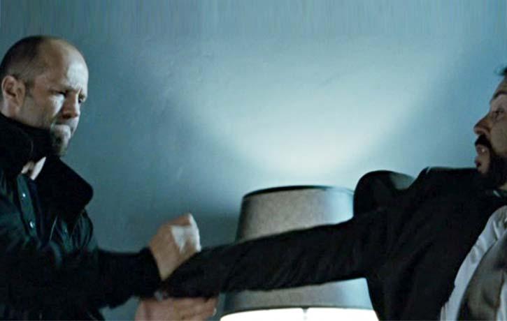 Statham gets a lock on a goon