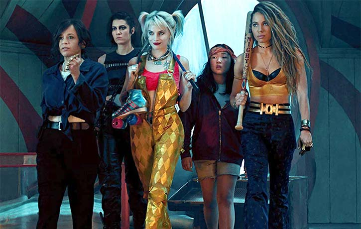Harley joins forces with Renee Montoya, Cassandra Cain, Black Canary, and Huntress
