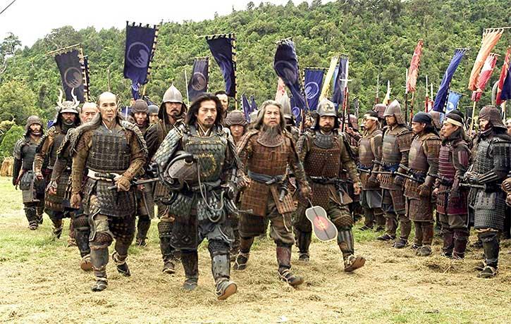 Ujio leads his troops