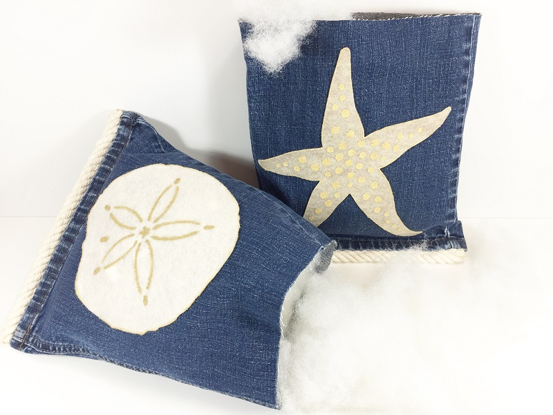 04-17 HOW TO MAKE STARFISH AND SAND DOLLAR DENIM PILLOWS BETH WATSON 7
