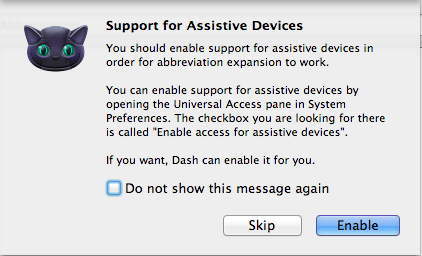 DashExpander - Support for Assitive Devices