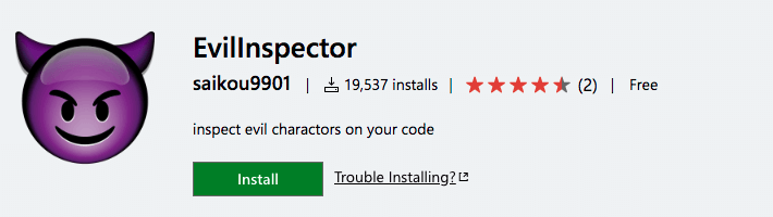 EvilInspector - Visual Studio Marketplace