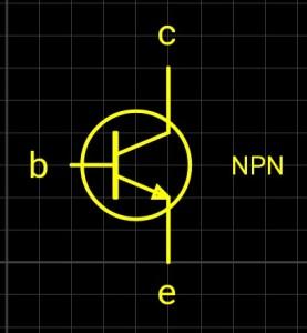 npn transistor symbol's