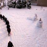 九里学園冬の登校風景