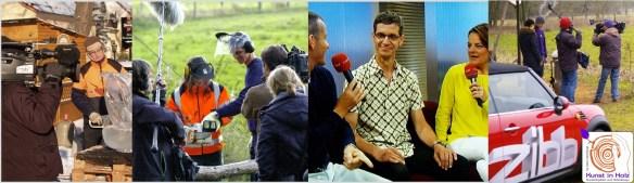 TV Dreh ueber Mario Mannhaupt und seiner Kunst in Holz