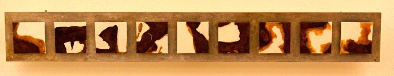 ROST-13,-120x16cm,-Mischtechnik-auf-Malplatten--auf-Holzplatte,-2011