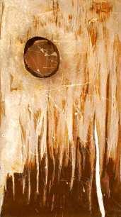 ROST-25,-35,5x63cm,-Mischtechnik-&-Metall-auf-Holzplatte,-2011