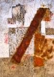 ROST 4, 66x92cm, Mischtechnik auf Papier, 2011