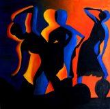 Tanz, 60 x 60cm, Öl auf Leinwand, 2007