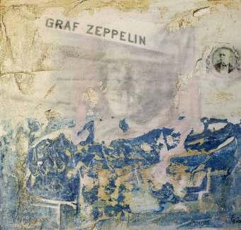 Zeppelin-56,-25x24,-Mischtechnik-&-Gips-auf-Holz,-2015