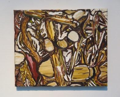 Man van Smarten - Mai van Oers - 1997 - olieverf op doek - 25 -30,5 cm.