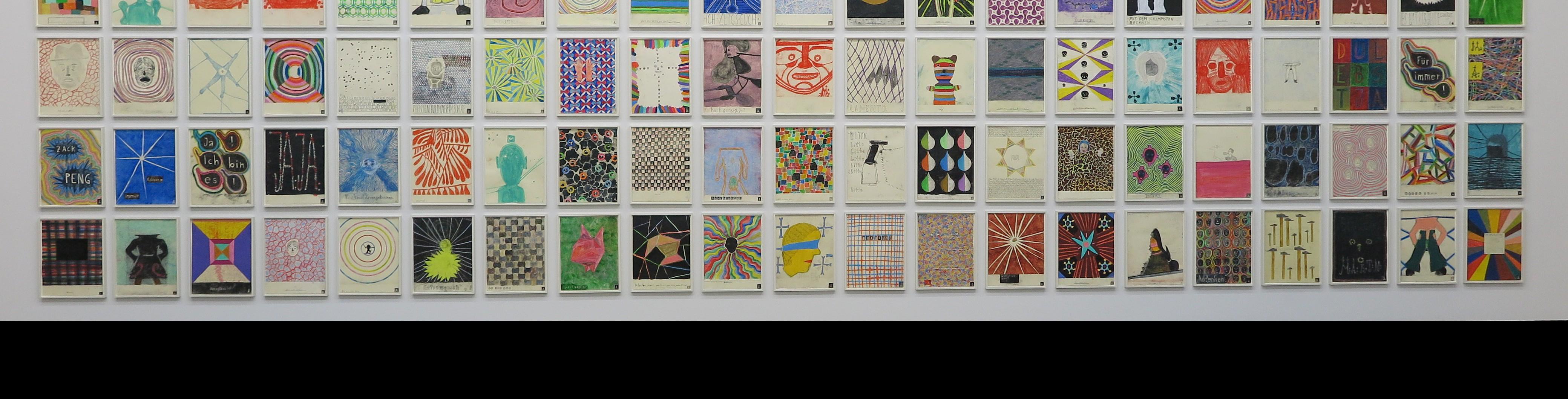 Martin Assig - Wand met tekeningen