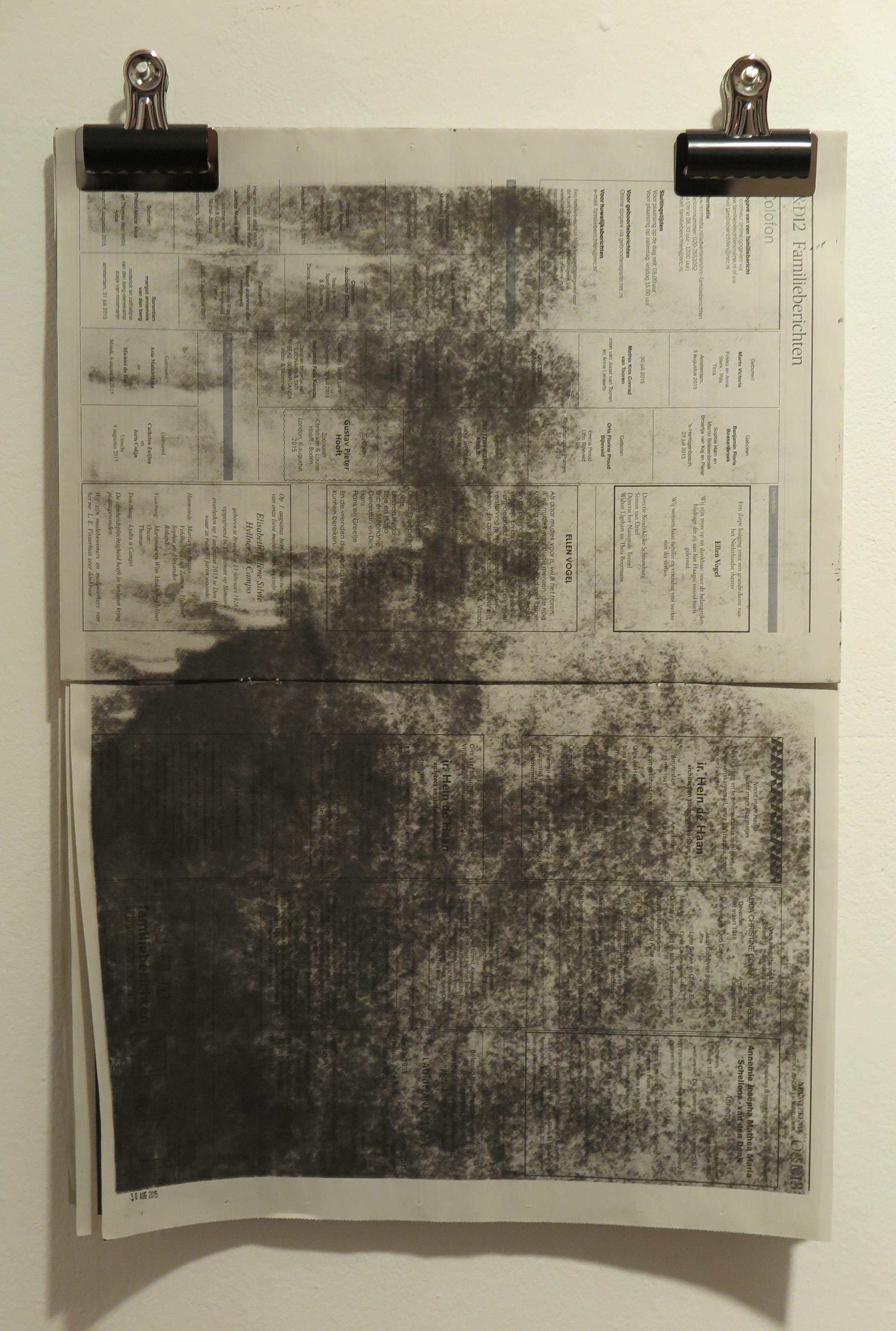 Gunter Gruben - fotoafdruk op krant