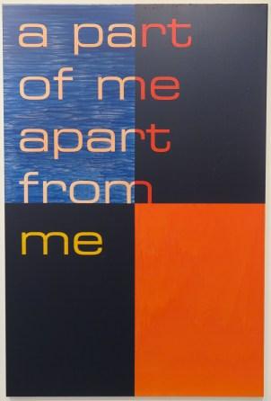 Tim Ayres. a part of me apart from me, acryl op doek