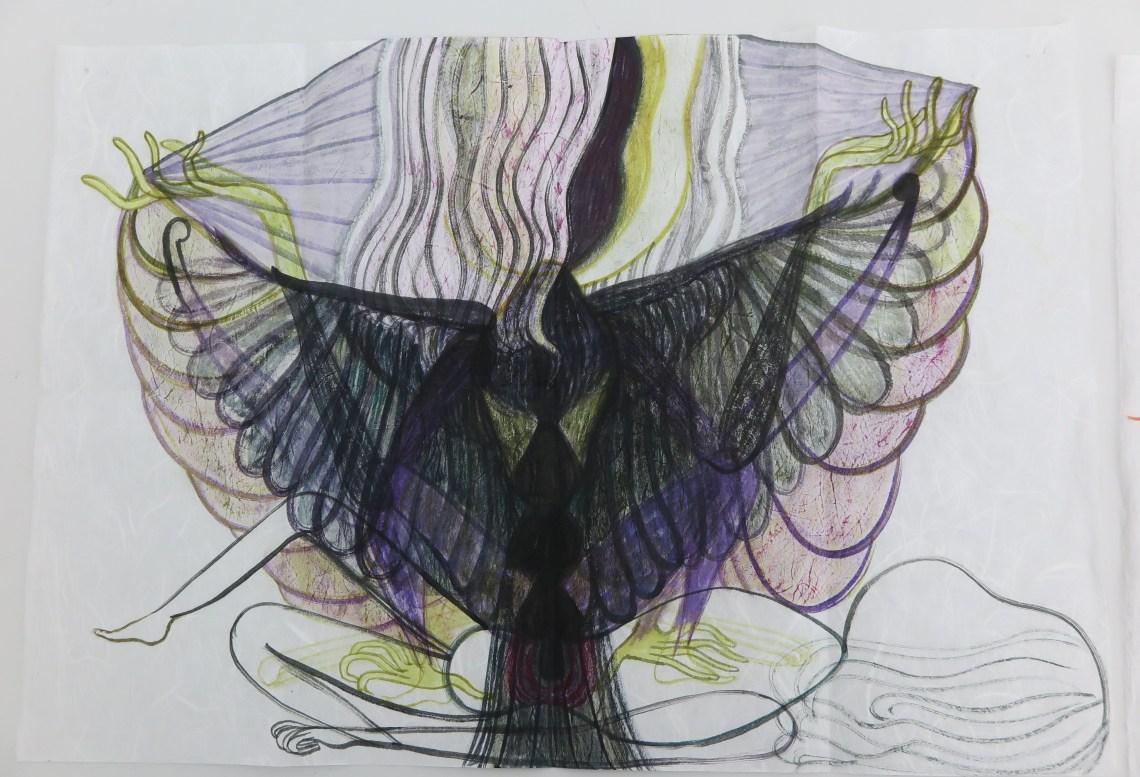 Elma-talbot_woman-snake-bird_galerie-onrust_5
