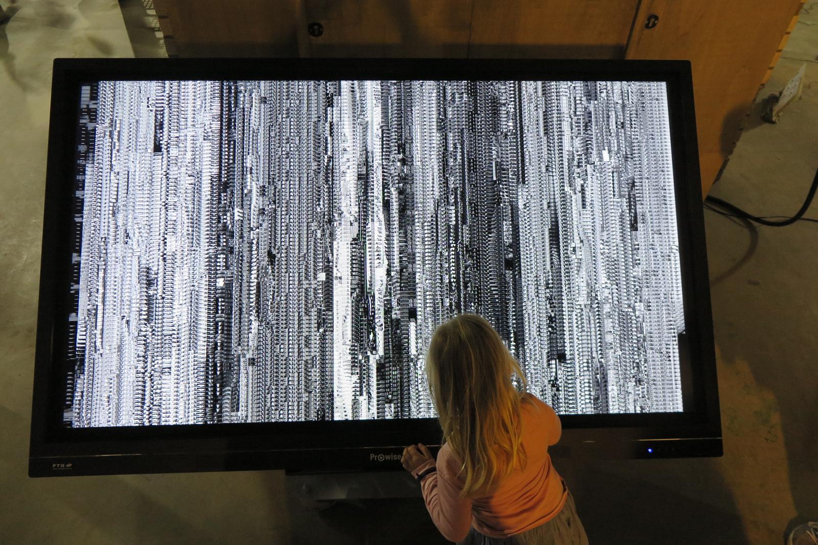 scherm met het werk One second psycho - Jakub Valtar