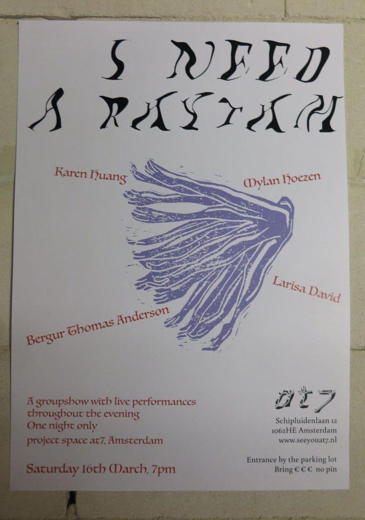 Poster 'I need a rhythm'