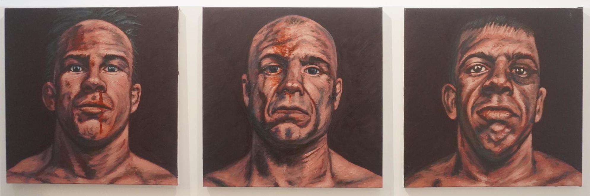 Drie boksers door Erik Suidman