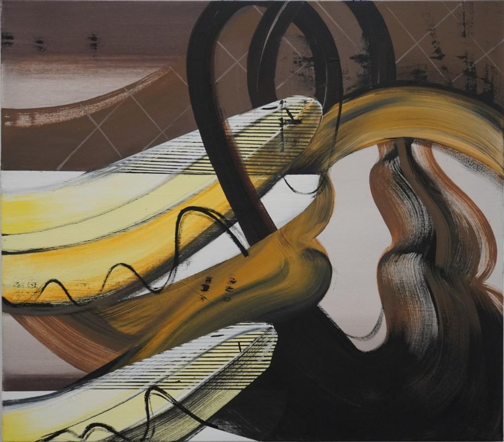 kunstenaar Janine van Oene, titel schilderij: Mocha Choca Lata Jaya