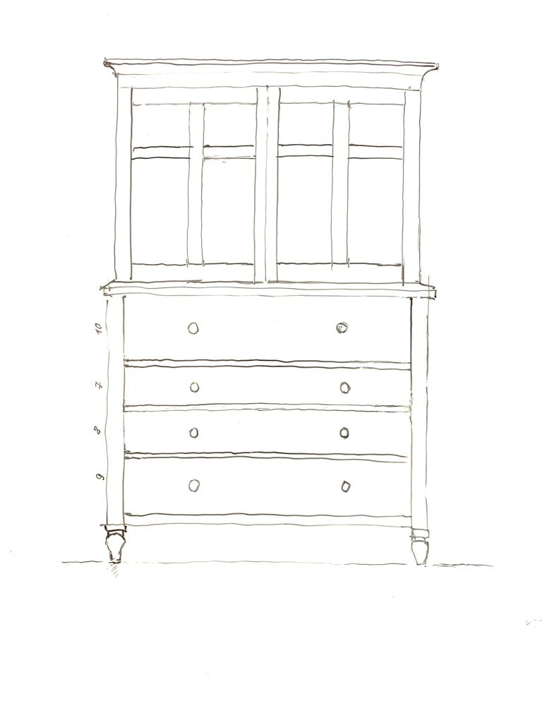 High Cupboard On Chest aus Old Chatham