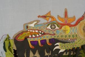Loes groothuis,  De Fonkelende Draak, detail