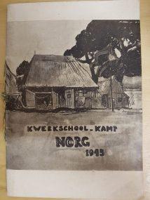 Tekening kweekschool-kamp 1945