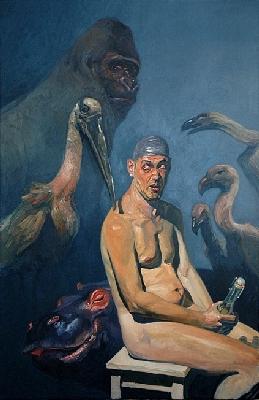 Vatertag II Öl auf Leinwand, 135 x 90 cm, 2005