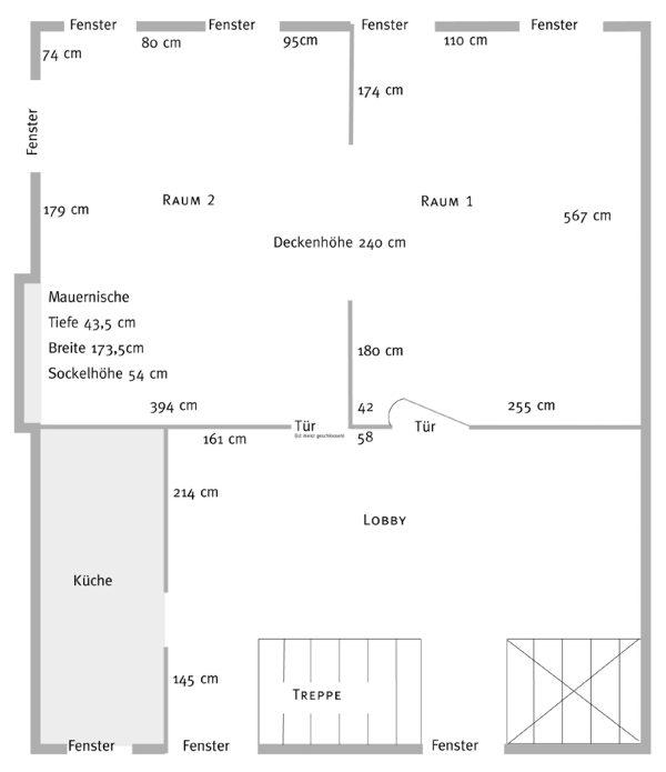 Grundriss der Ausstellungsräume