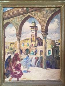 Franz Kienmayer, Tempel in Jerusalem, Aquarell, 45 x 34 cm