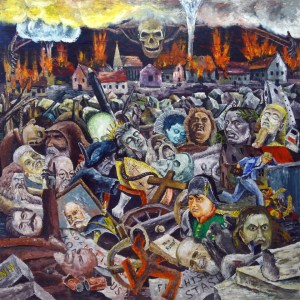 Müllplatz der Geschichte (1. Fassung) Öl auf Hartfaser, 165 x 167,5 cm 1992