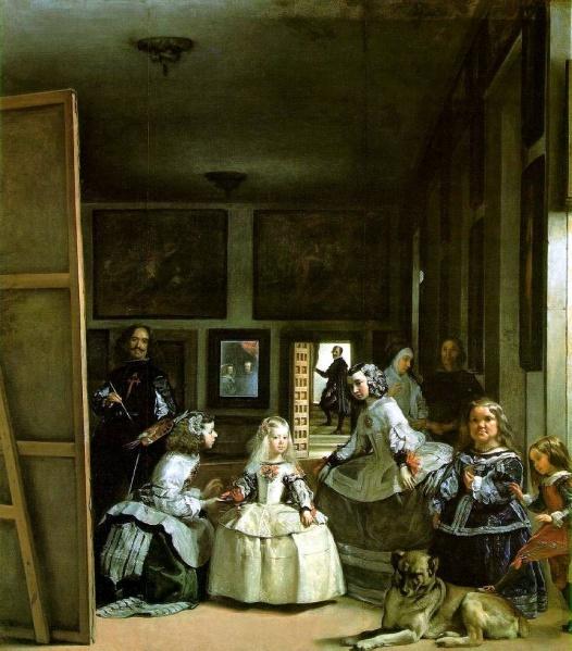 Meninas av Velazquez fra 1650